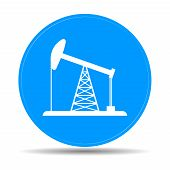 foto of rig  - Oil Rig Icon - JPG