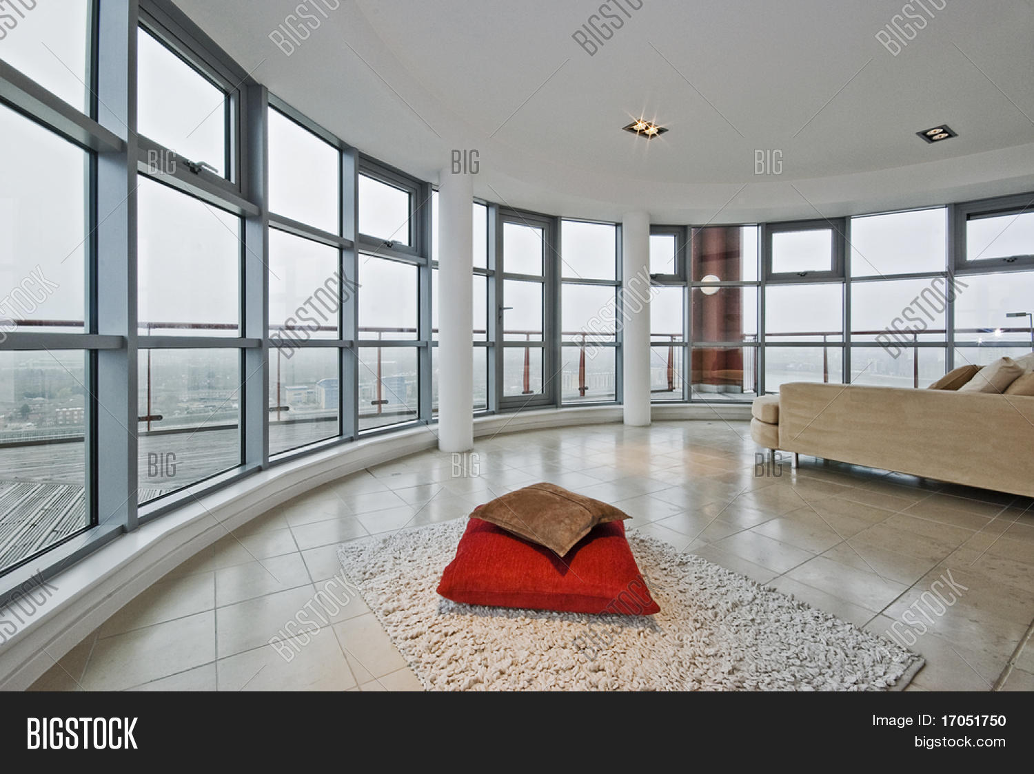 Luxury modern penthouse apartment with floor to ceiling for Floor to ceiling windows