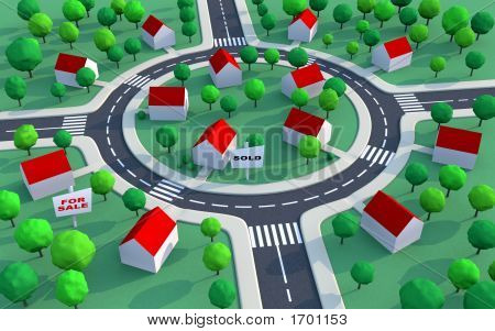 Housing Estate In The Suburbs