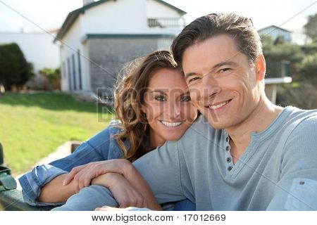 Portrait of happy new property owners