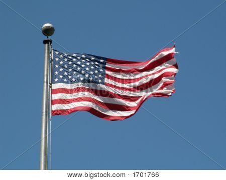 Old Glory Waving Proudly