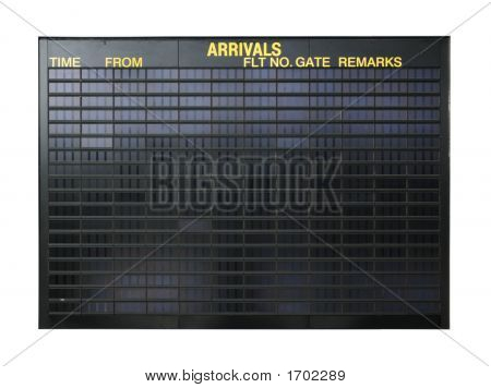 Blank Airport Sign