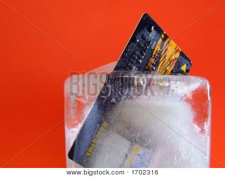 Credit Card Locked In Ice #2