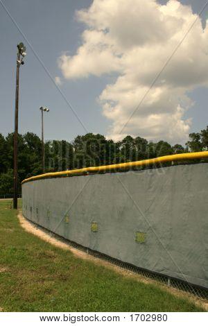Temporary Baseball Curtain