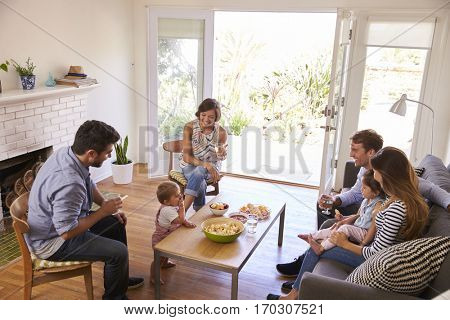 Two Families Getting Together At