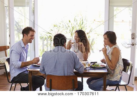 Group Of Friends Enjoying Dinner