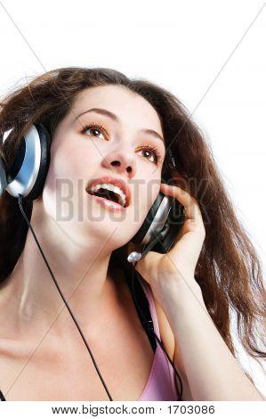 Girl In Headphones 3