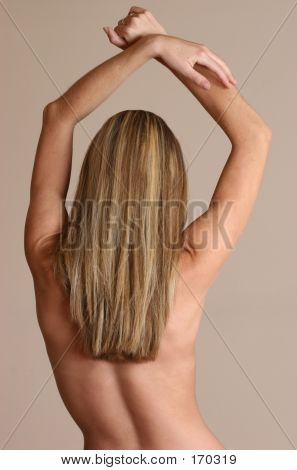 Woman Posing Naked From Behind