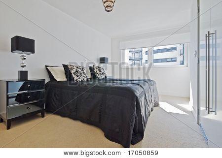 modern bedroom with retro, vintage elements