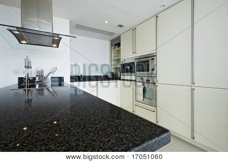 fully fitted modern kitchen with all appliances