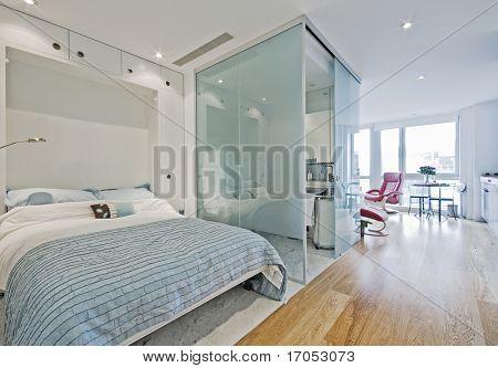 Apartamento de lujo con cama doble