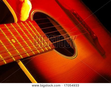 guitar in the dark