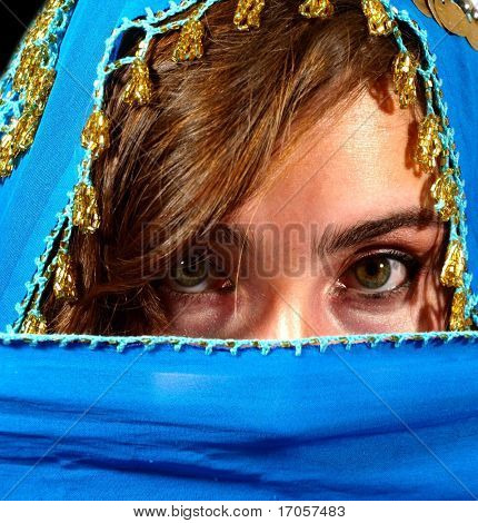 portrait of arabic girl