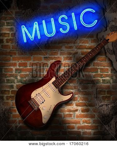 Music background in grunge style