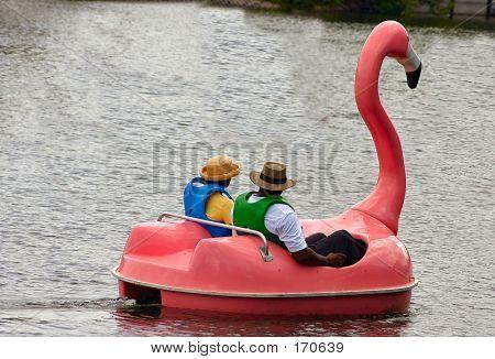 Pink Flamingo Boat