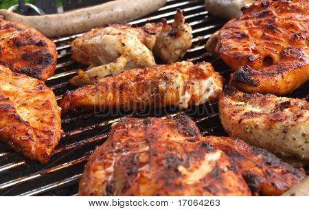 Cocinar en la parrilla de carne