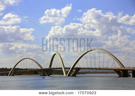 Juscelino Kubitschek bridge in  brasilia city capital of brazil
