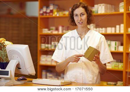 Pharmacist Explaining Medicine
