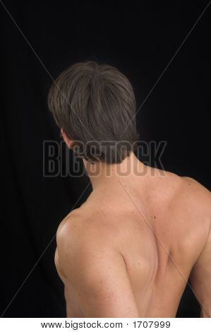 Close Up Of A Young Man Back