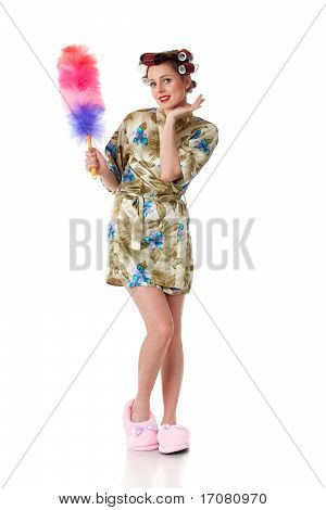 Young Woman With Whisk.