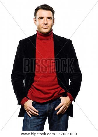 caucasian handsome man portrait smiling