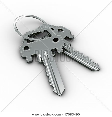 3d rendering of a two car keys