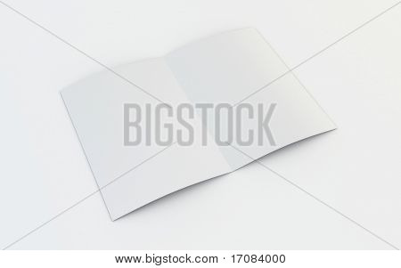 3d rendering of a blank brochure
