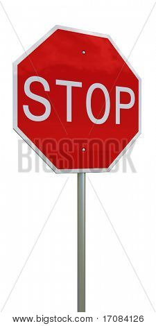 3d rendering of a stop sign