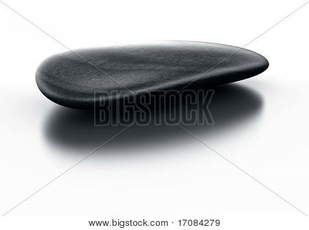 renderings 3D de uma pedra negra