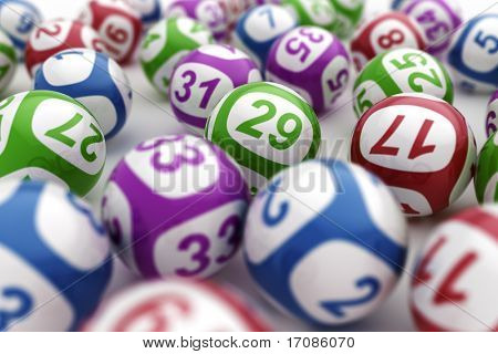 3D-Rendering Lotto-Kugeln