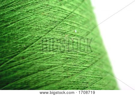 Green Thread Fabric Wool Yarn Wrapped In A Spool Of Threads And Textiles Great For A Background