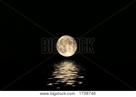 Harvest Moon Over Water