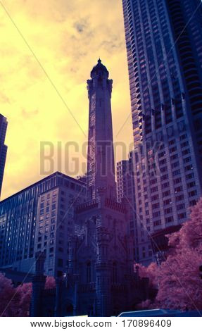 Color Swap Water Tower Place Chicago Infrared