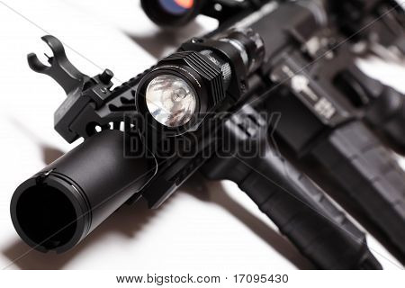 M4A1 Carbine With Tactical Flashlight