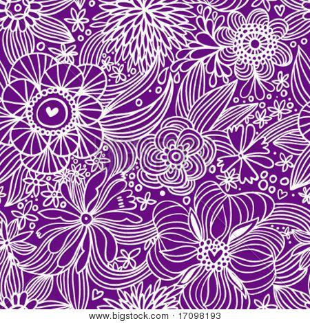 Padrão sem emenda floral em violeta