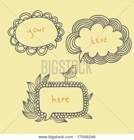 Floral text bubbles