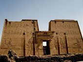 foto of ptolemaic  - gigantic carvings at temple of edfu egypt - JPG