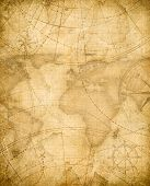 aged pirates treasure map background poster