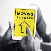 Moving Forward Aspirations Goals Target Ahead poster