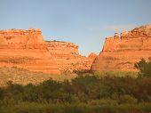 foto of amtrak  - Ruby canyon taken from Amtrak at sunset - JPG