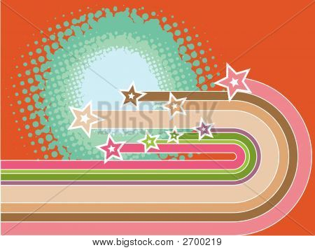 Retro Pop Stripes Superstar Curves (Vector)