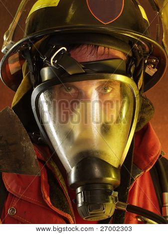 Firefighter portrait.