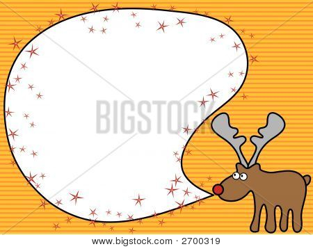 Cartoon Reindeer Greeting (Vector)