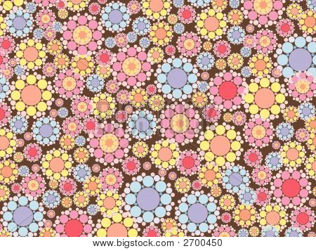 Pastel Pink And Blue Snow Flowers Pattern (Vector)
