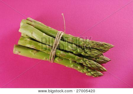 Bundle of green asparagus,