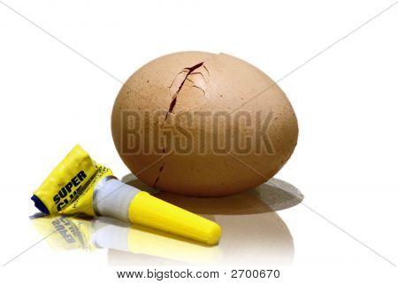 Glued Egg