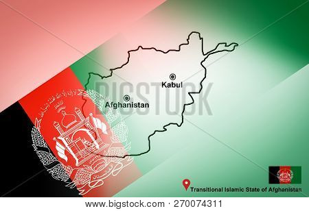 Afghanistan Map And Kabul With