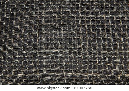 black fabric close up
