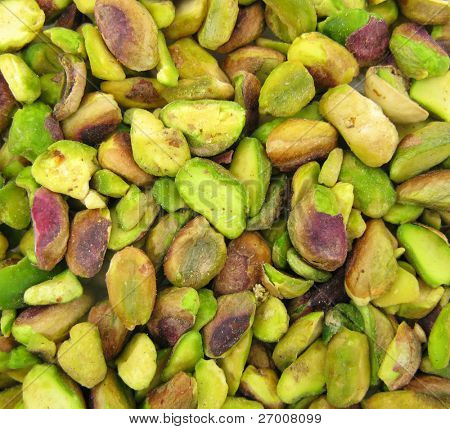 Pistachios green