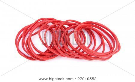 Red rubber bands
